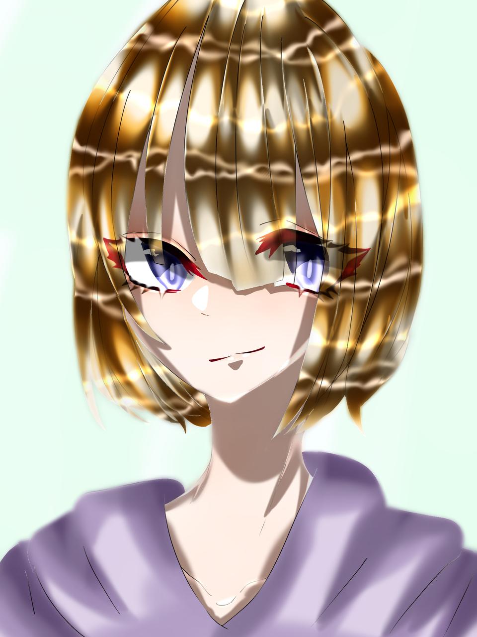 金髪君もの Illust of 如月来蕾≮TRPG≯ medibangpaint hoodie boy blonde oc
