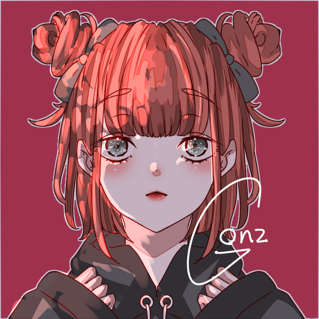 Practice Illust of ☠🎀ごんざれす🎀💊 girl 闇 病みかわいい kawaii 病み メンヘラ きらきら red