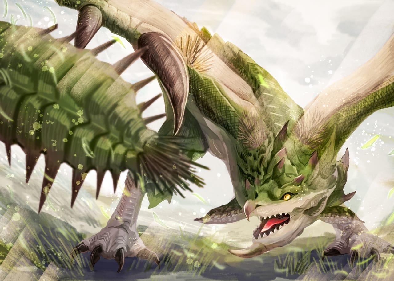雌火龍リオレイア Illust of 伊砂祐李 (Yuri Isa) MonsterHunter モンハンライズ リオレイア
