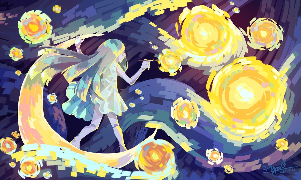 starry night painter  Illust of ユ MasterpieceFanart