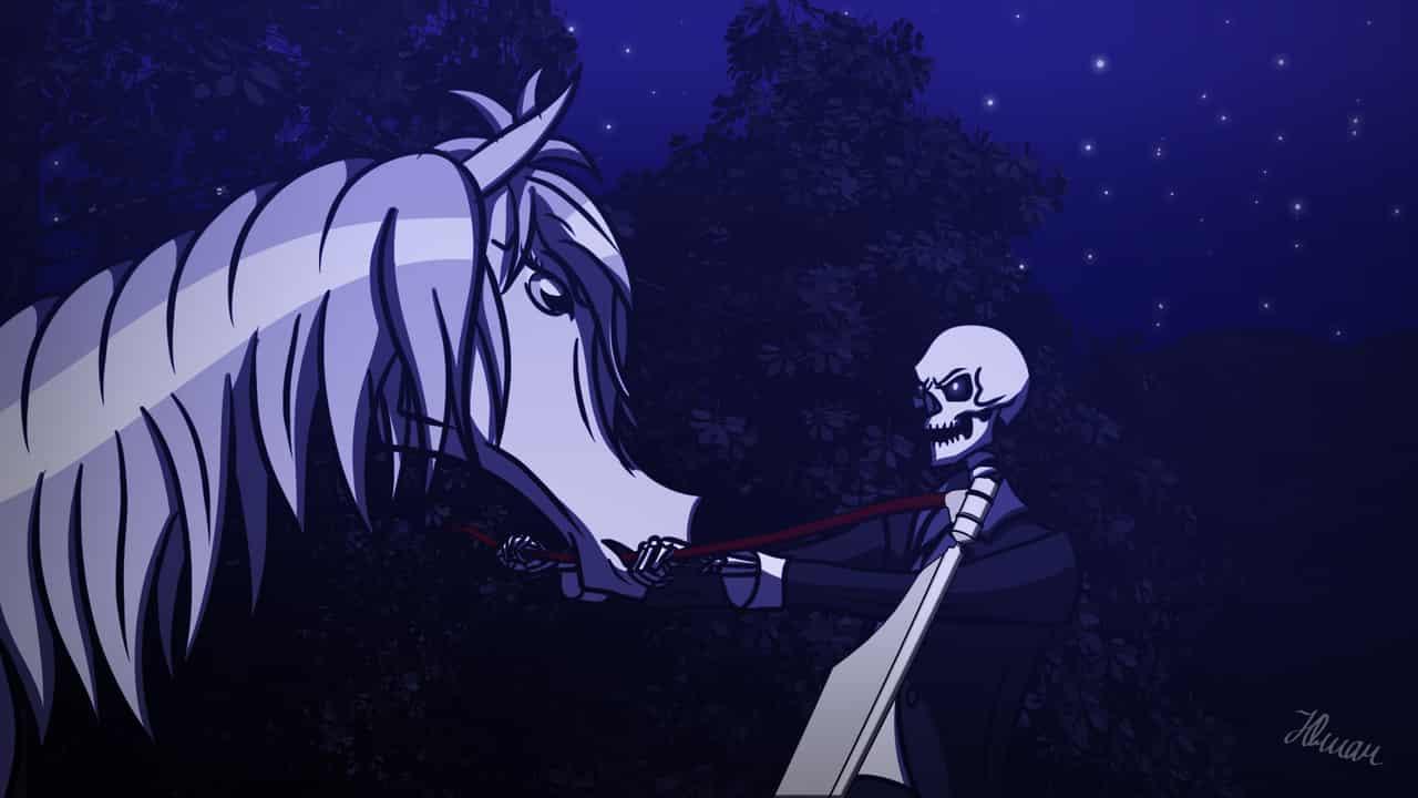 Mine Illust of thehereticlocomotive undead night mare skeleton Horse