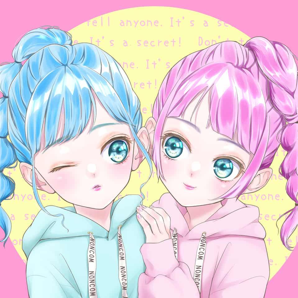 twins Illust of とのくろ freeprofilepic hoodie 双子 oc girl