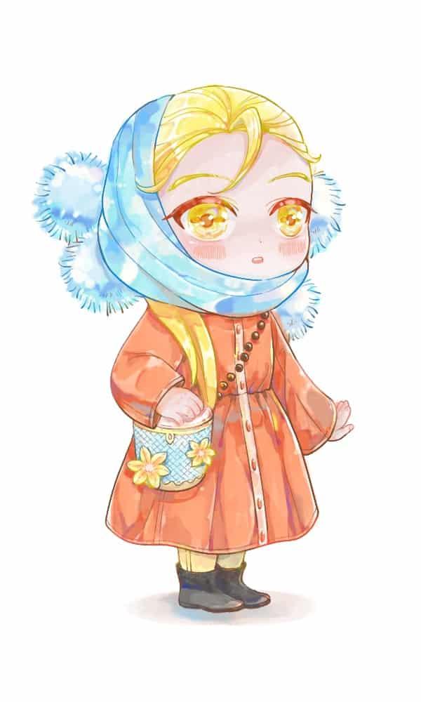 练习 Illust of 君59 practice girl blonde
