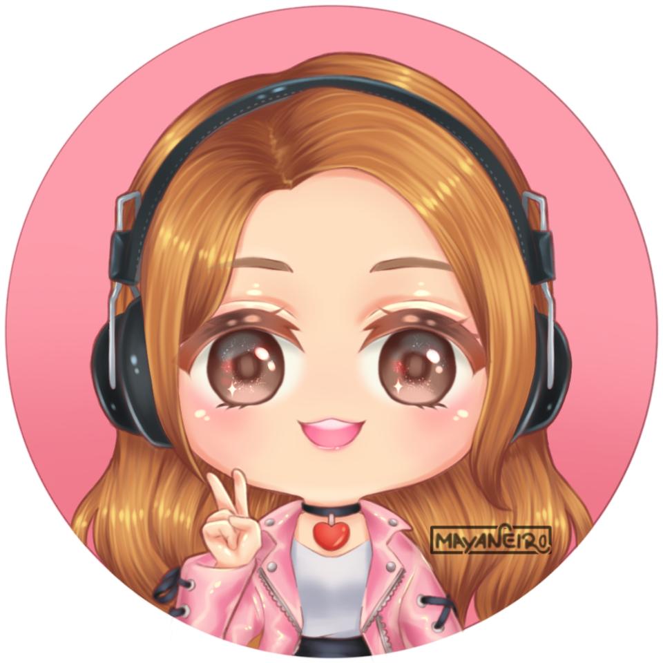 Senpai Illust of Mayaneiro headphones commission chibi chibiart icon oc lineplay