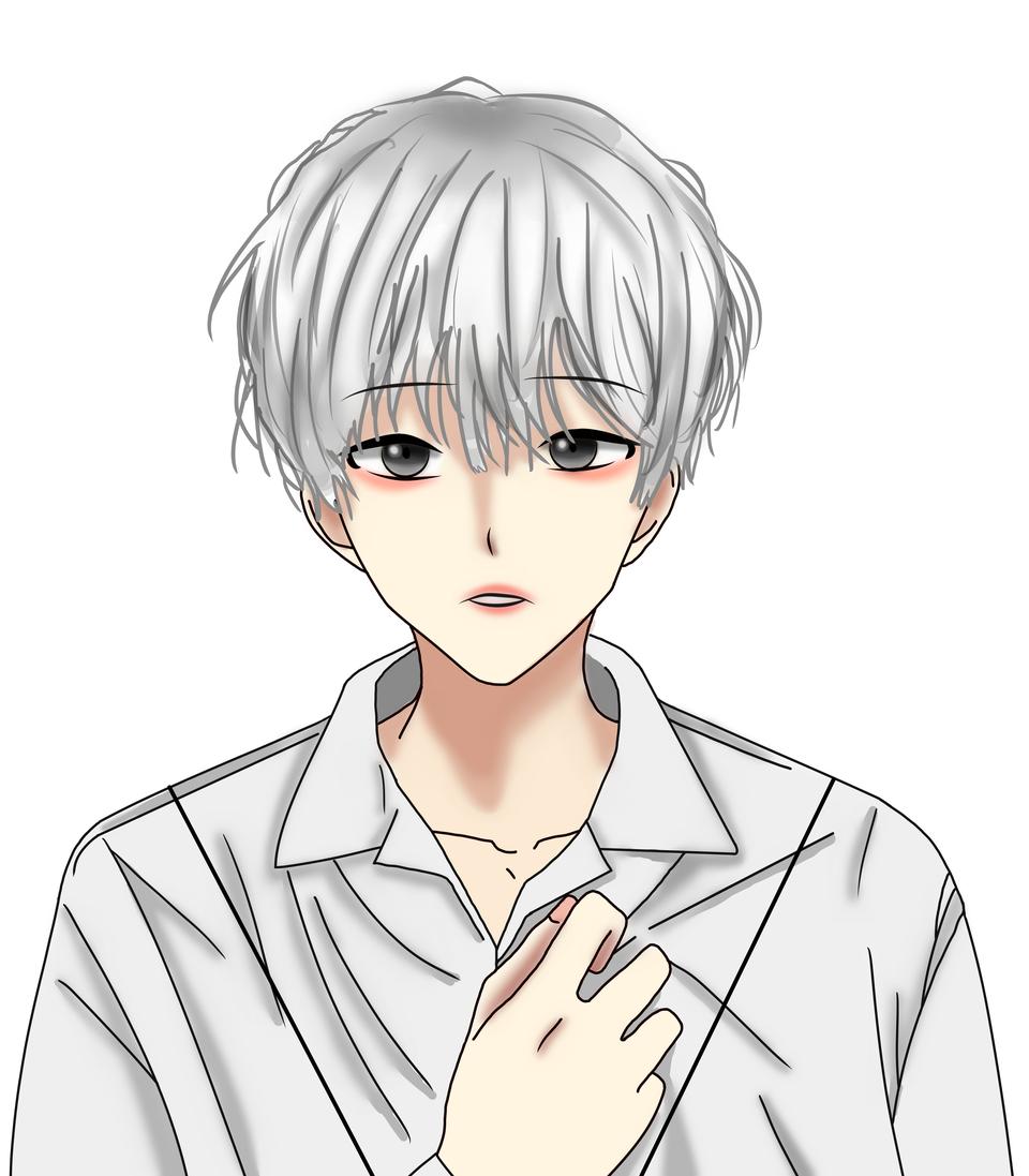 매일 기대 Illust of YUN-C January2021_Contest:OC white_hair cute yun-c 와이셔츠 oc 백발소년