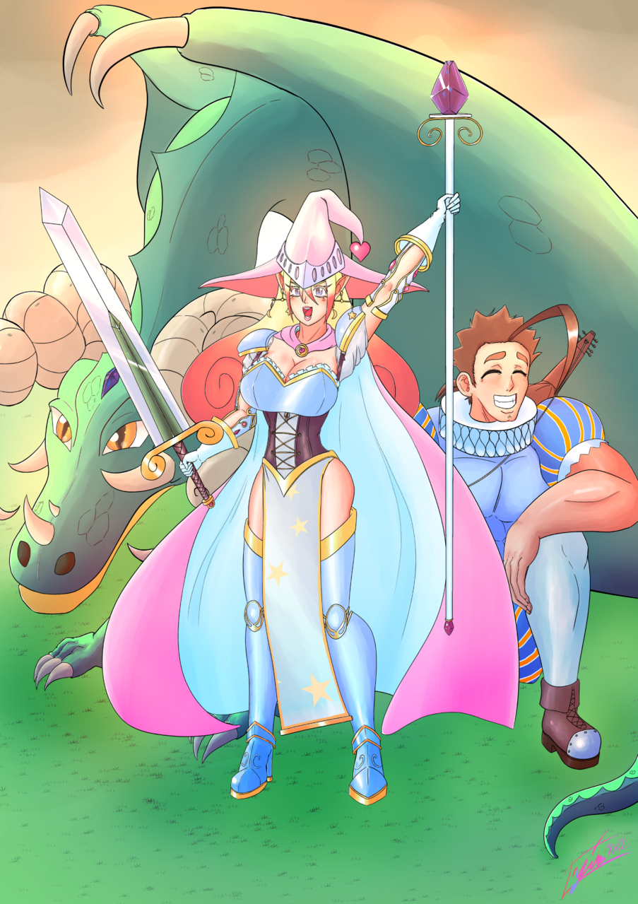 La Maga Caballero Illust of Onmyou Yin Yang fantasy February2021_Fantasy oc dragon