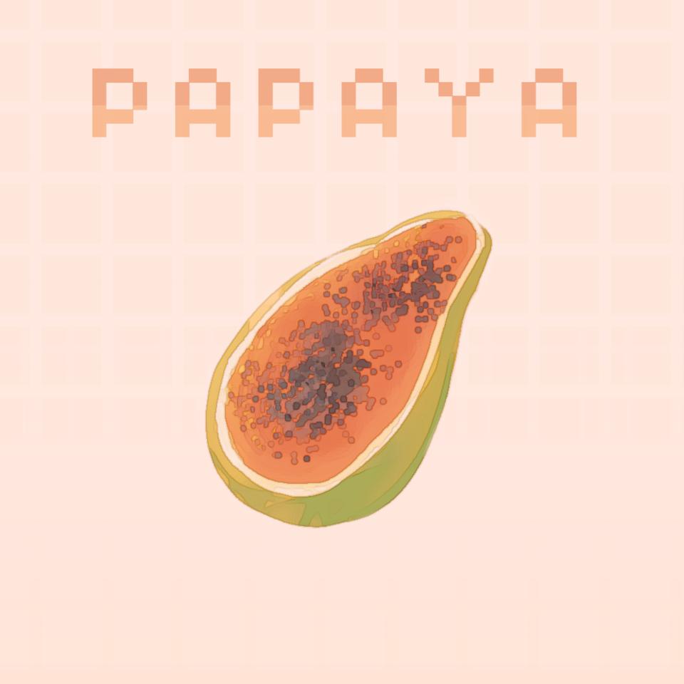 papaya Illust of ✧・゚:* Fresh *:・゚✧ papaya