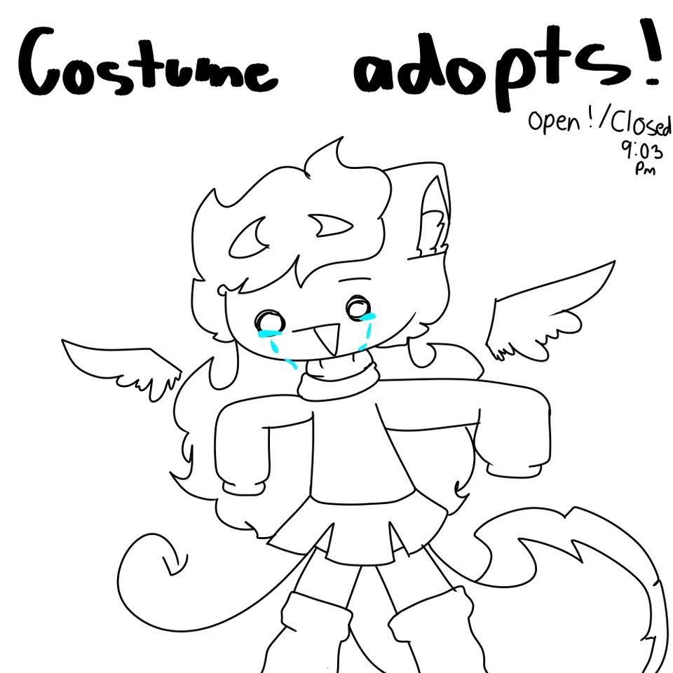costume adopts ;w; Illust of DeKu._.W0lfy_the_wolf._.382YT💜 medibangpaint