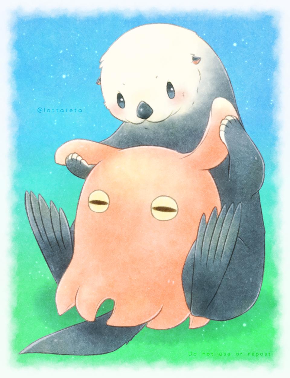 気になるヒレ Illust of shin 星屑入り江のロッタテタ original animal メンダコ 海洋生物 生き物 ラッコ
