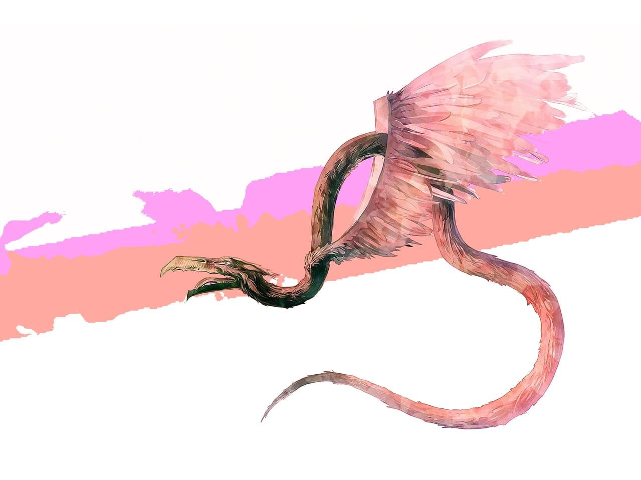 Wings Illust of Lear February2021_Fantasy March2021_Creature design dragon art