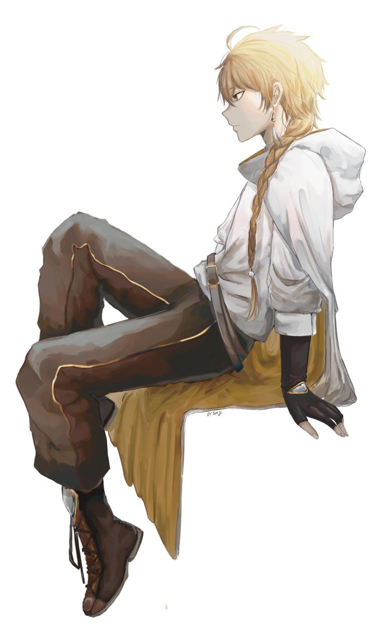 Aether  Illust of 0r3njii illustration Aether 横顔 boy anime doodle fanart GenshinImpact digital art