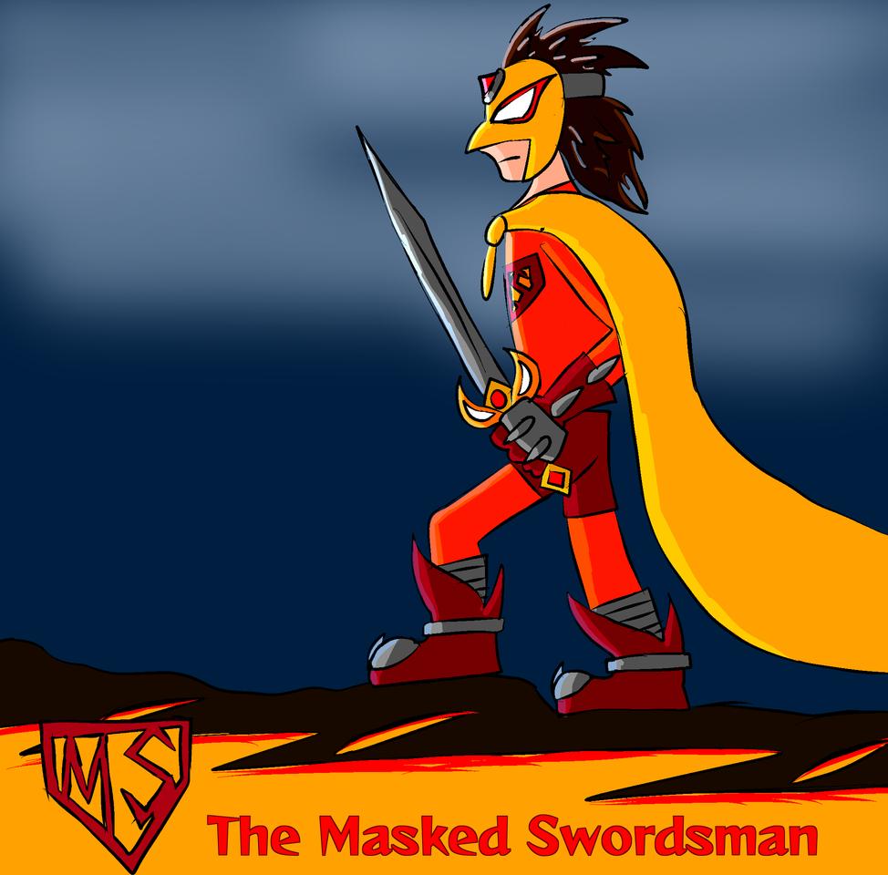 Popcross Entry: The Masked Swordsman Illust of /-/-ShO0K m0d3-\-\| DordusRising Popcross contest superhero