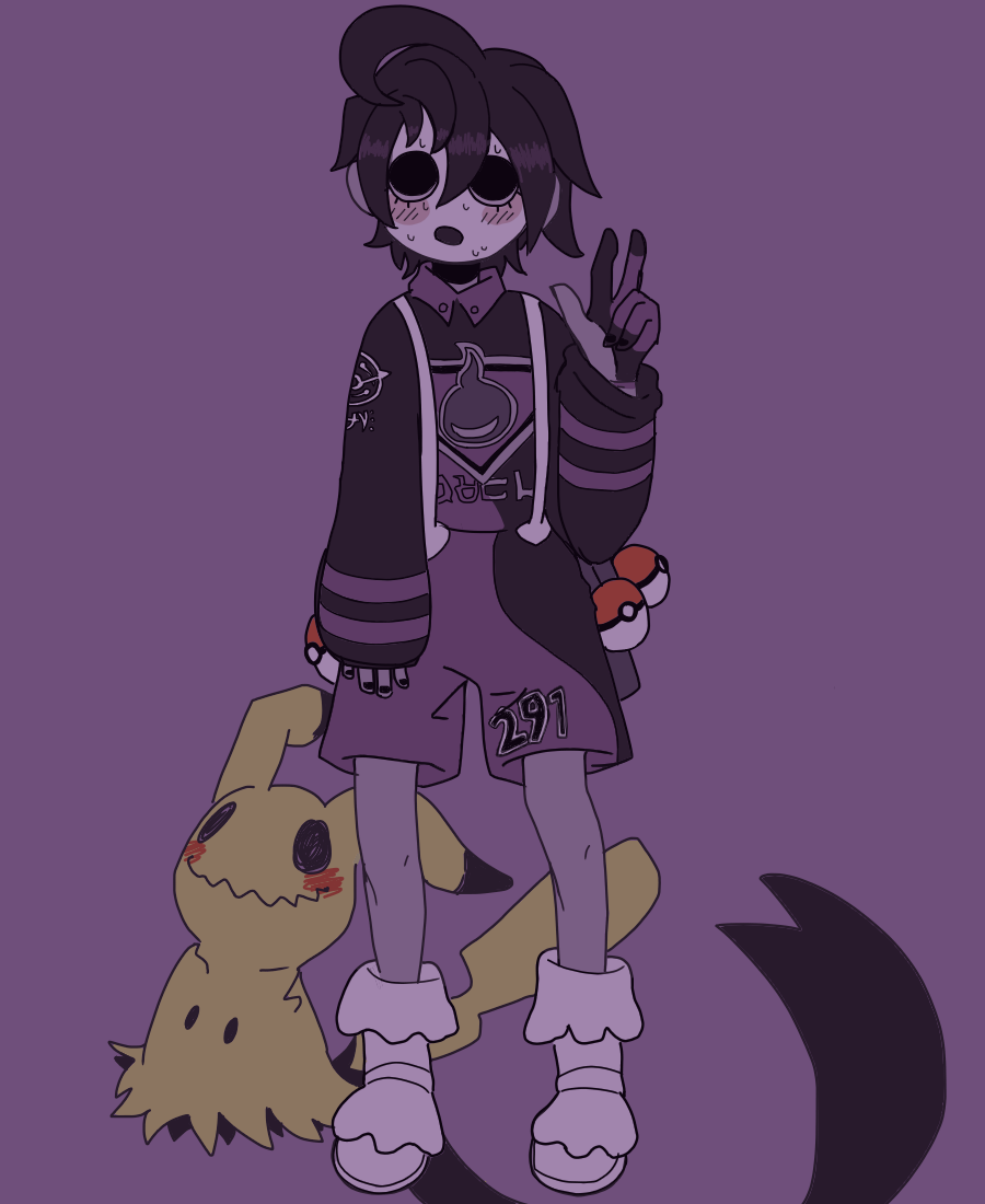 Allister WIP Illust of paopumiilk ミミッキュ medibangpaint オニオン(ポケモン) mimikyu pokemon PokémonSwordandShield allister