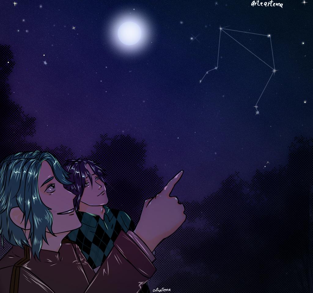Mirando al cielo estrellado Illust of MargaV medibangpaint mysticmessenger Jumin MysticMessenger jihyunkim