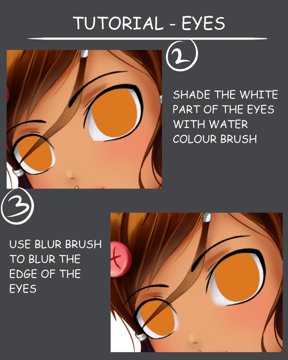 Eyes Tutorial Part 1 Illust of Wyvernnova tutorial illustration adorable kawaii digital cute huiontablet eyes oc