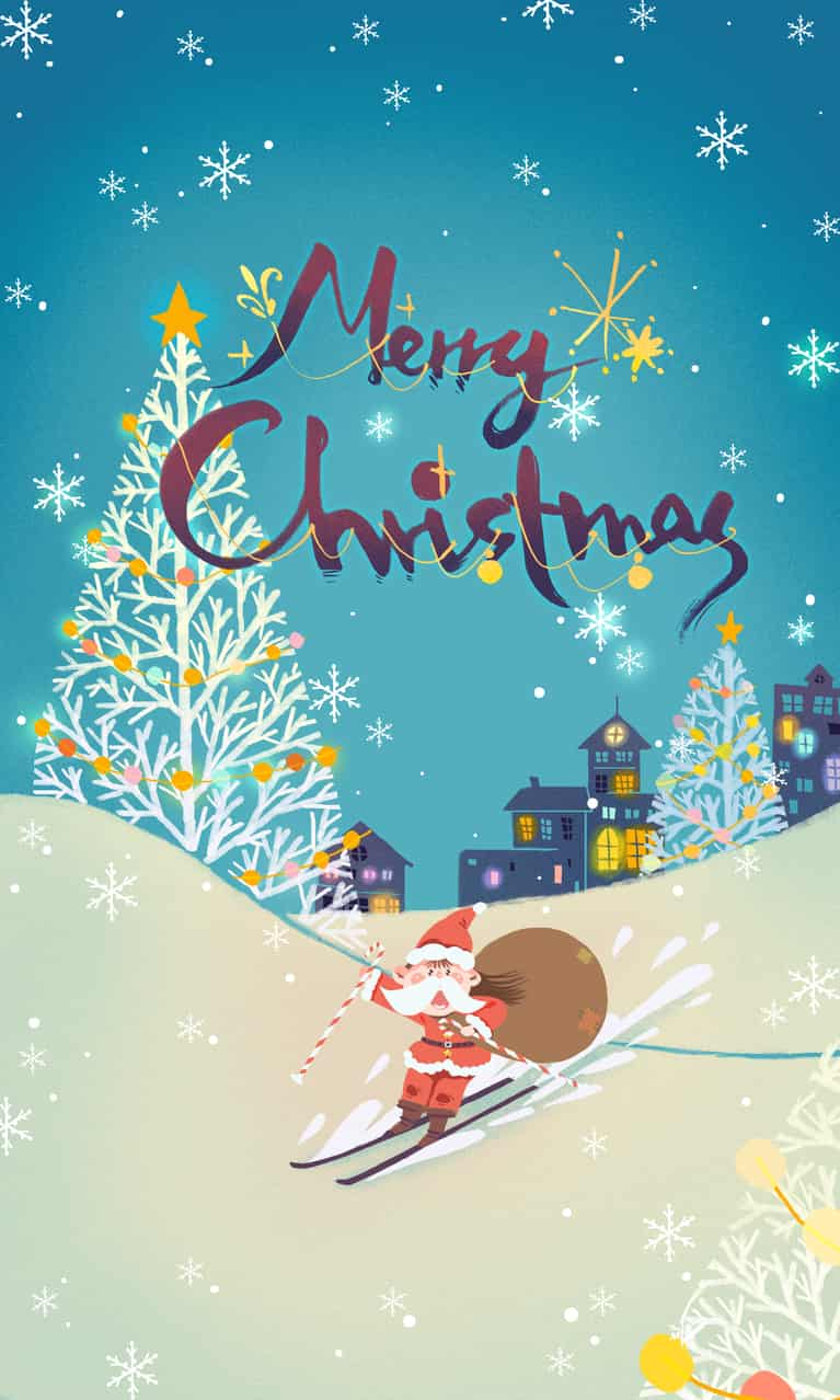 圣诞快乐 Illust of 呀哆yaduo dec.2019Contest 圣诞老人 illustration Christmas