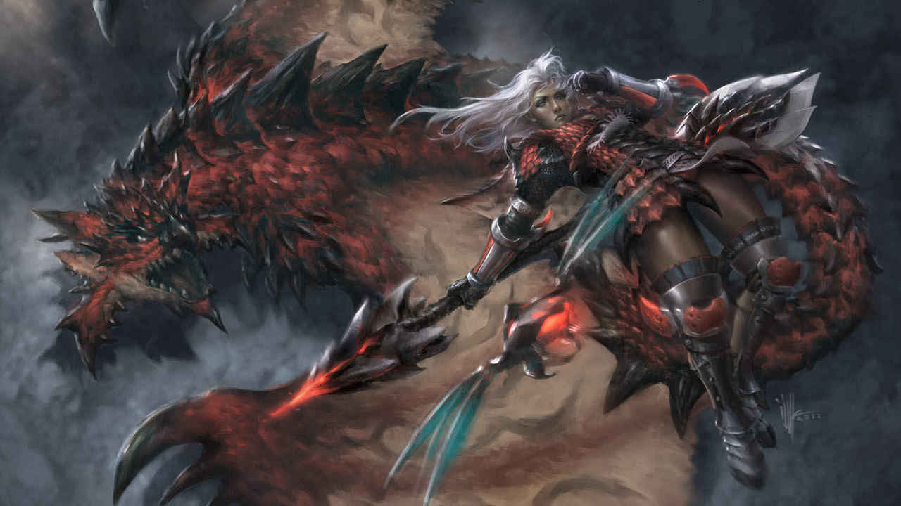 Monster Hunter Illust of ijur rathalos dragon wyvern MonsterHunter