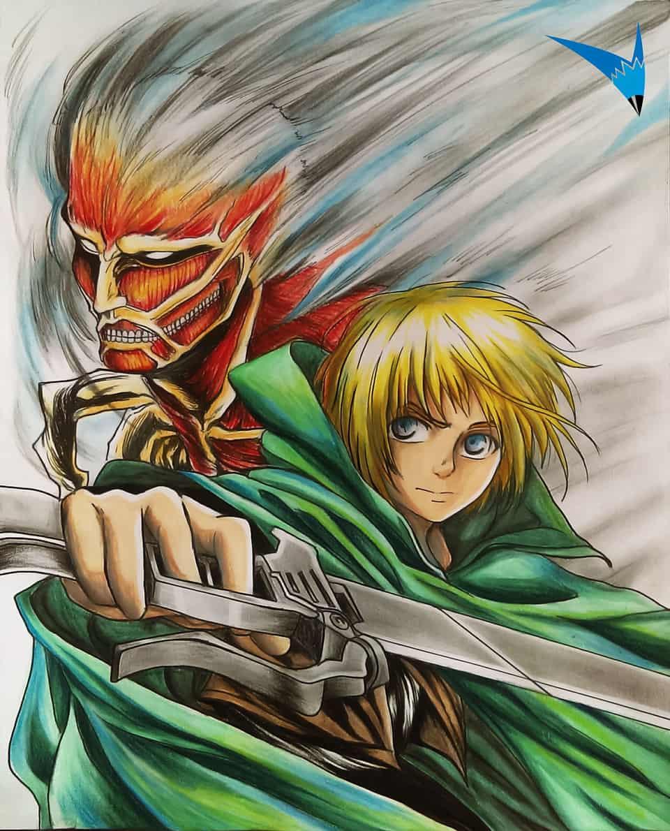 Armin Arlert Titan Colosal Yaapearts Illustrations