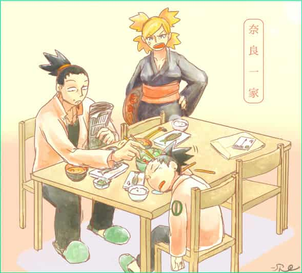 奈良家の朝