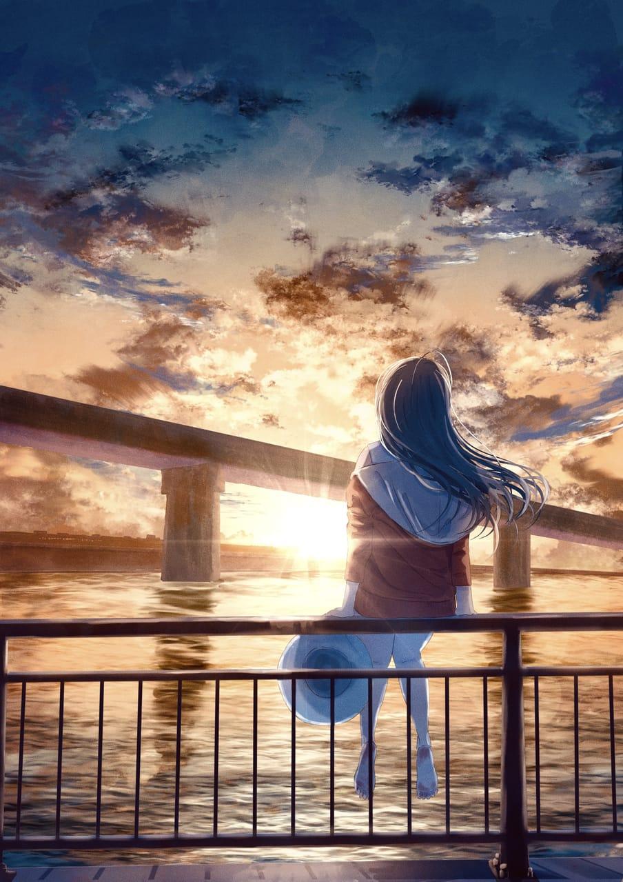 エスケープ Illust of 熊谷のの 夕日 girl scenery background original sunset