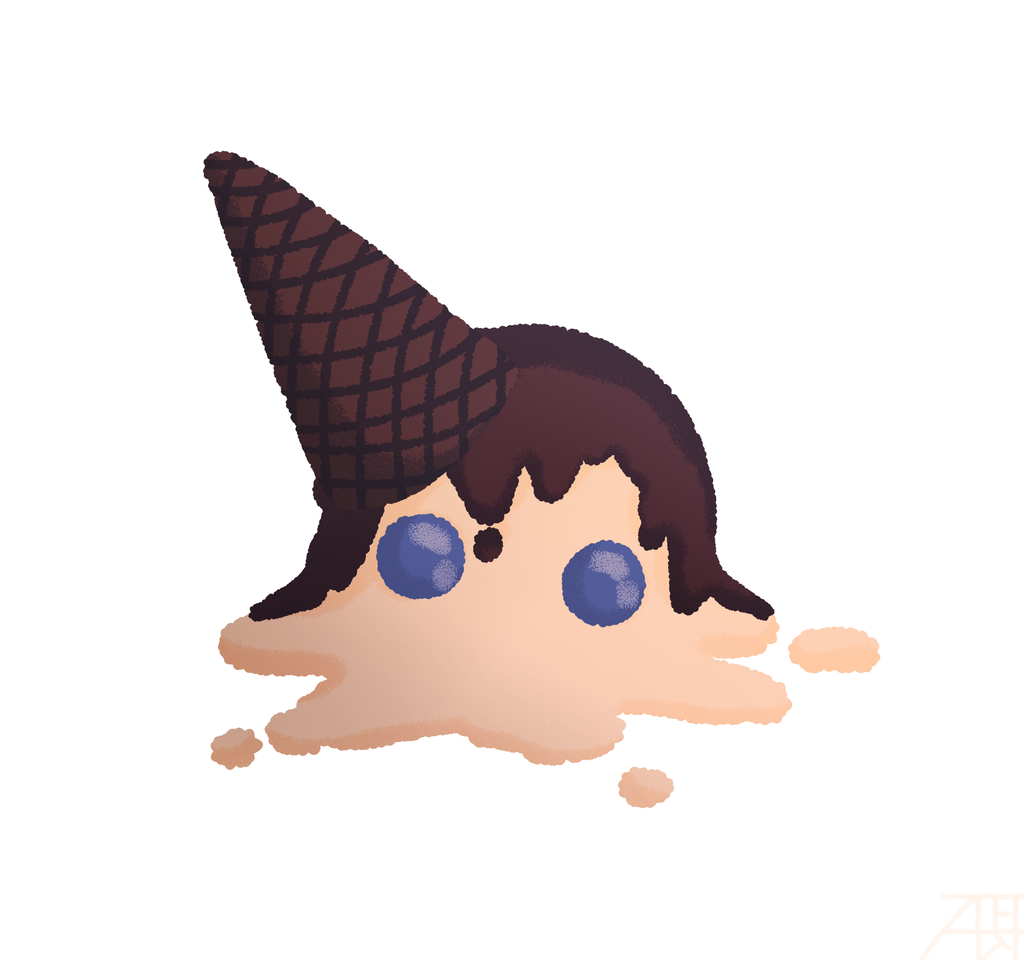 Ice Cream Ran Illust of Mr.Sheogorath medibangpaint ice-cream Ran DetectiveConan anime dcmk RanMouri