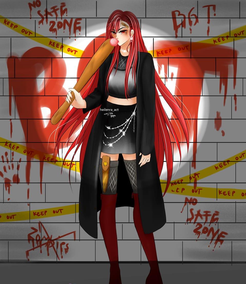 💞💕💞 Illust of Heilenra_act January2021_Contest:OC red animeart medibangpaint longhair blood medibang oc redhair animegirl black