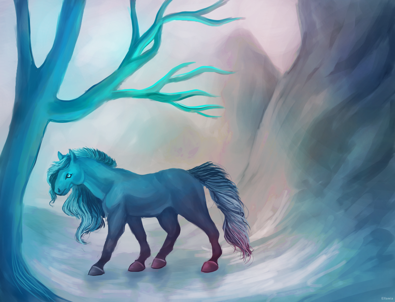 Horse On Ice Ellamia Illustrations Art Street
