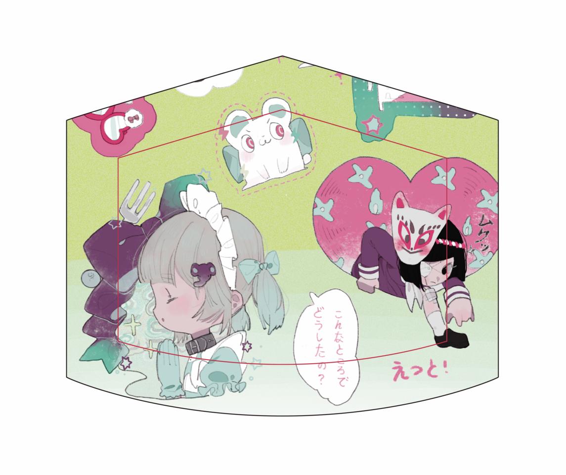 口罩图案的设计(少女向 Illust of 九木口冬 MaskDesignContest 印花 original 设计