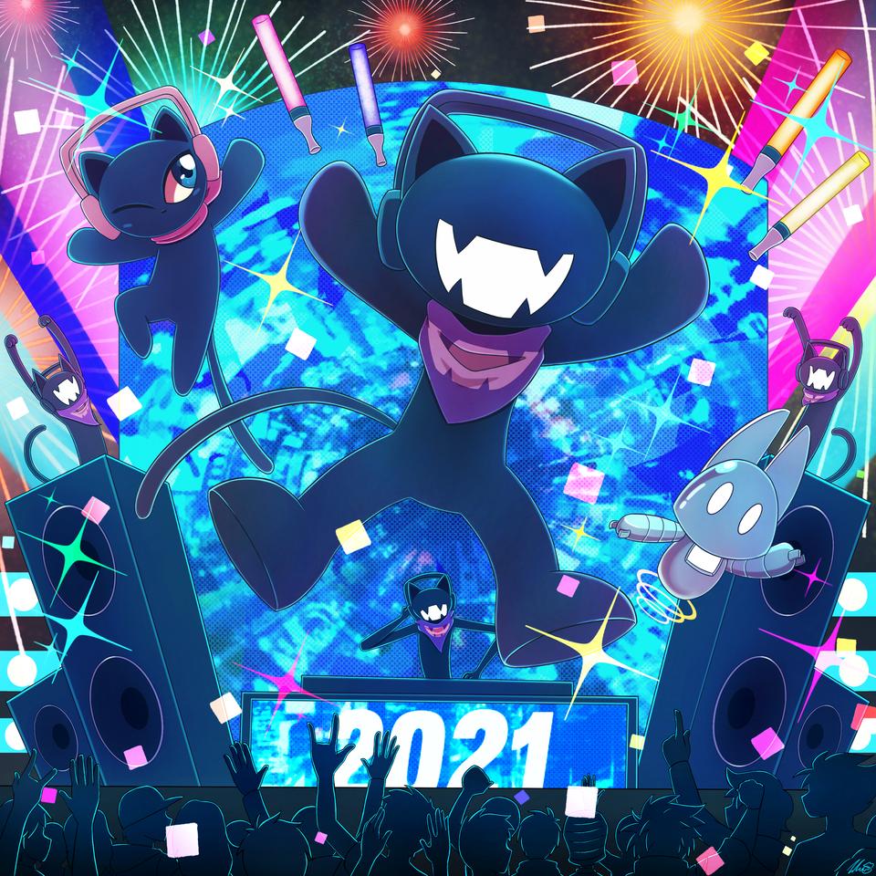 Monstercat: 2021 [Art Competition Entry] Illust of ExothermicEX Monstercat illustration edm newyear 2021