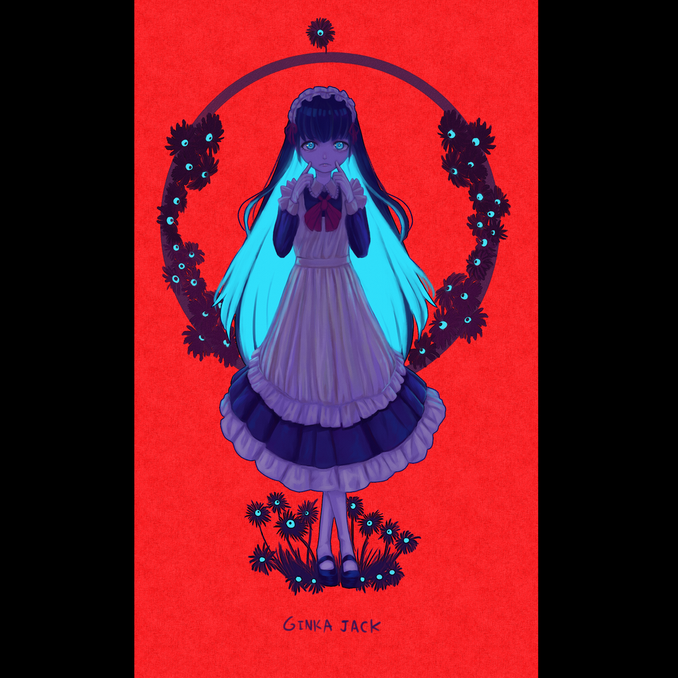 maid smile Illust of Ginka-jack cute maid cutegirl color girl flower