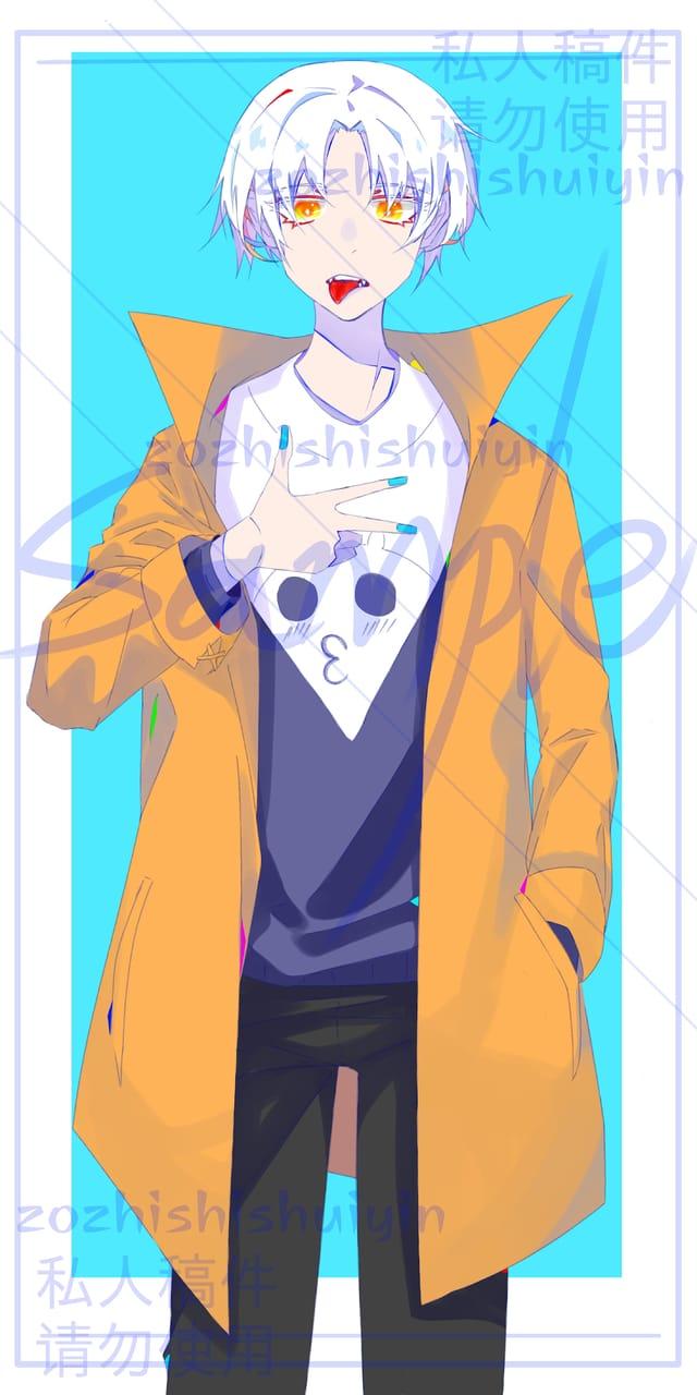 和列表的互绘 Illust of 繁华刹景fhcj white_hair cute 男孩