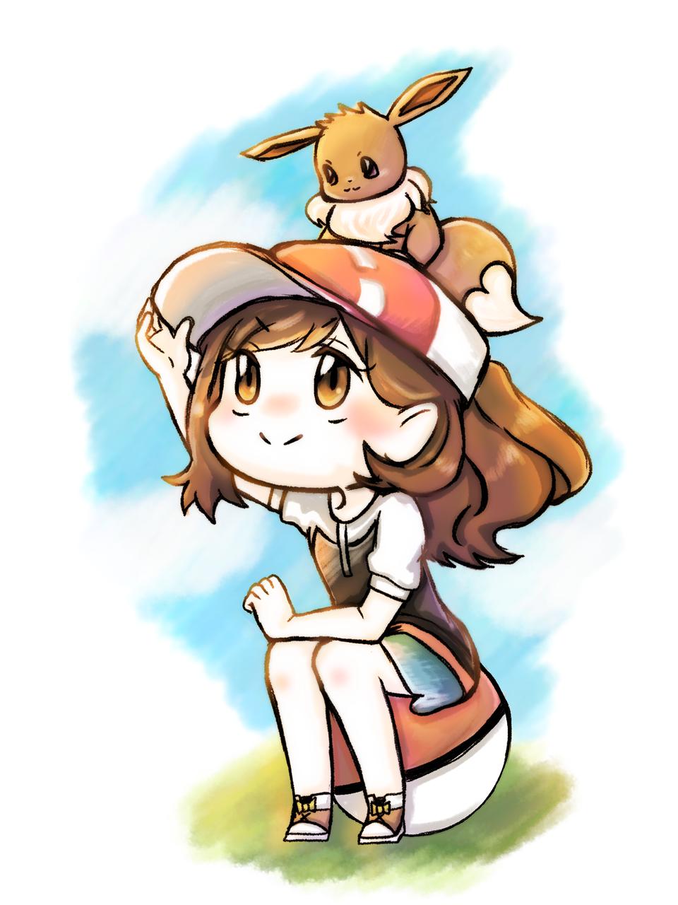 イーブイと一緒 Illust of Donguri medibangpaint pokemon