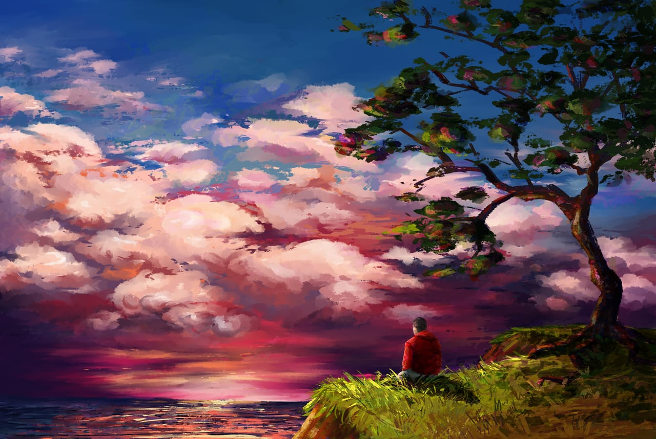Sunset by the sea Illust of Siberian ART_street_Illustration_Book_Contest